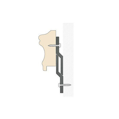 "Z BAR HANGERS 500mm (20"") HEAVY DUTY PICTURE & MIRROR WITH SCREWS, WALL PLUGS 2"