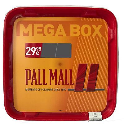 4 x Pall Mall Mega Box Volumentabak 185g, Feuerzeuge, 2.000 Allround Xtra Hülsen 5