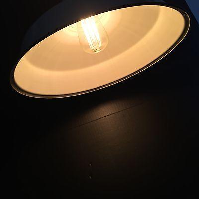 Self Adjusting Industrial Light White Enamel Globe HOOD A Spero Celevland ohio 3