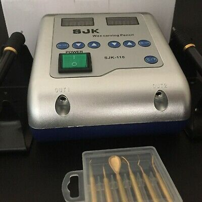 Dental Lab Electric Thin Waxer Carving knife Machine Double Pen 6 Wax Tip Pot 3