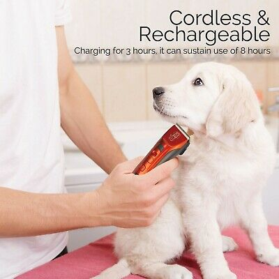 Cordless Dog Clipper Pet Grooming Kit Electric Trimmer Set for Animal Hair Cat 4