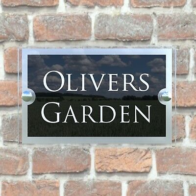 Contemporary House Sign Plaques Door Number 1 - 9999 Personalised Name Plate 11
