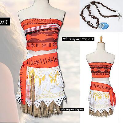 Tipo Vaiana Vestito Carnevale Bambina Cosplay Dress Simil Moana Costume VAIDR05