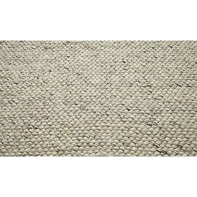 Small - Large Thick Light Grey Pebbles Bobbles Bobbly 100% Wool 3D Rug Clearance 4
