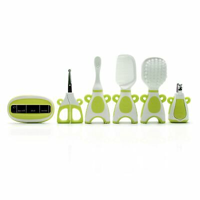 The Neat Nursery Co. Baby Hair Brush/Nail Clippers/Toothbrush Grooming Kit Green 3