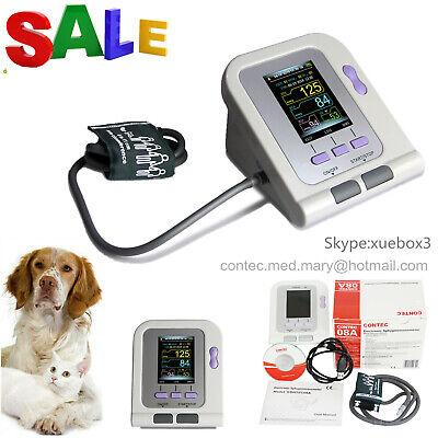 Vet Veterinary OLED digital Blood Pressure Heart Beat Monitor NIBP animal use US 12