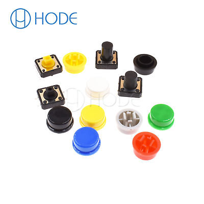 Momentary Tactile Push Button Touch Micro Switch 4P PCB Caps 12x12x7.3mm-12mm UK 4