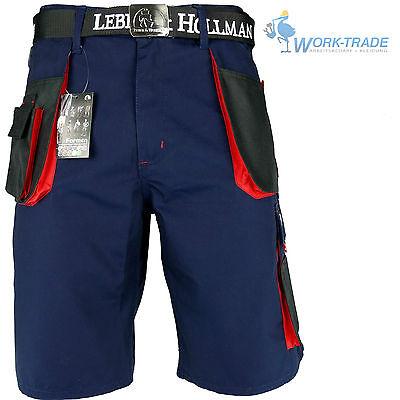 Arbeitshose Kurze Hose Kurz Bermuda Shorts Dunkelblau Schwarz Rot Gr. S-XXXL