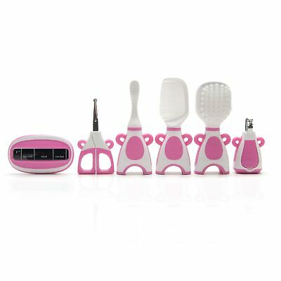 The Neat Nursery Co. Baby Hair Brush/Nail Clippers/Toothbrush Grooming Kit- Pink 3