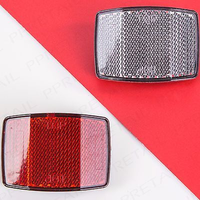 Bicycle Reflectors SetFront White Rear Red 25.4mm Bike Safety