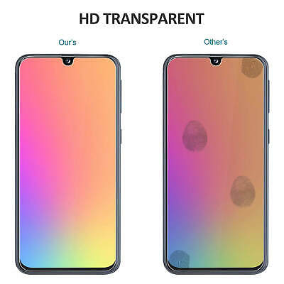 For Samsung Galaxy A40 A50 Full Coverage Tempered Glass Screen Protector Clear 6