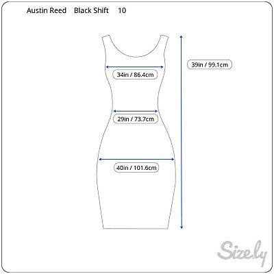 Austin Reed Black Dress With Belt Free Uk10 26 00 Picclick Uk