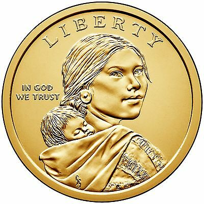 2017 P&d Sacagawea Native American Dollars Set From Uncirculated Mint Rolls 2