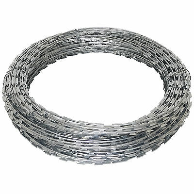 GALVANISED / BARBED / Razor Wire Steel Security Fencing Farm ...