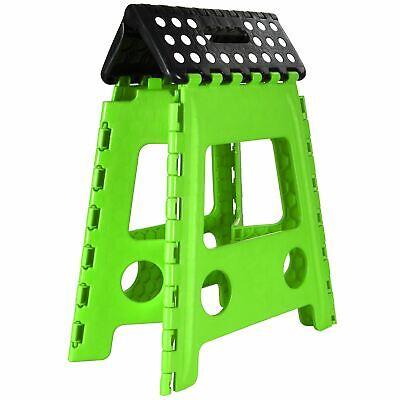 Plastic Folding Step Stool New Multi Purpose Kitchen Foldable Easy Storage Green 6