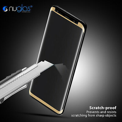 NUGLAS Samsung S10 S9 S8 Plus Note 9 Tempered Glass Full Cover Screen Protector 7