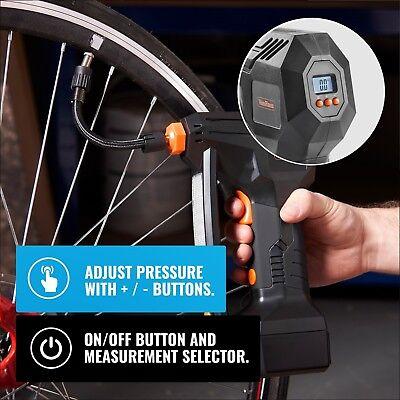 VonHaus Digital Tyre Inflator Cordless Handheld Air Compressor / Automatic Pump 4
