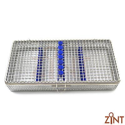 7Pcs Dental Instruments Sterilization Cassette Stainless Steel Mesh Tray Racks 5