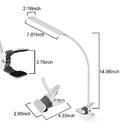 5W USB Flexible Clip-On Desk Bedside Reading Study Book Lamp LED Light Dimmable 3