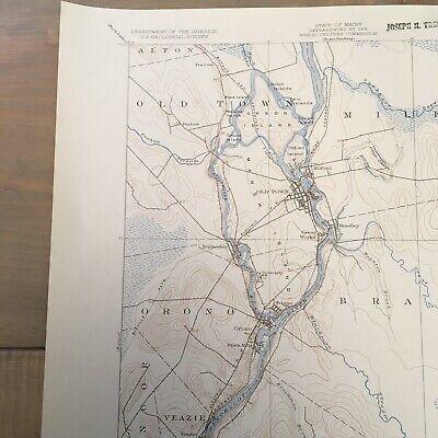 Vintage Original 1936 Maine Penobscot County Orono ME USGS Quadrangle Map 6