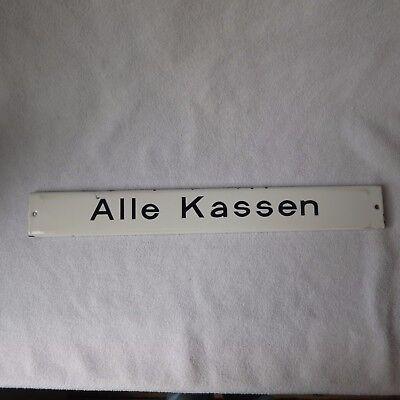Alle Kassen altes Emailschild Arzt Praxisschild emailliert Hinweisschild Emaille