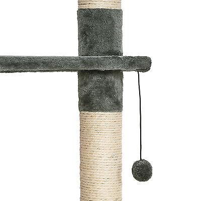 Arbre à chat griffoir grattoir jouet animaux douillet geant peluché gris blanc 6