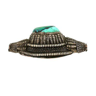 (2567) Antique element of headdress Ladakh/Tibet. Turquoises and silver 5