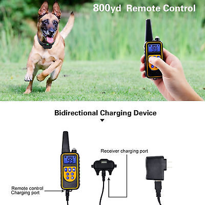 Rechargeable 2600 FT Remote Dog Training Shock Collar Waterproof Hunting Trainer 3