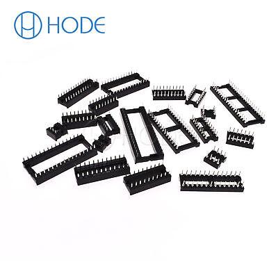IC Sockets DIP-6P 40P Pin Round Adaptor Solder Gold Plated Narrow/WIDE UK 4