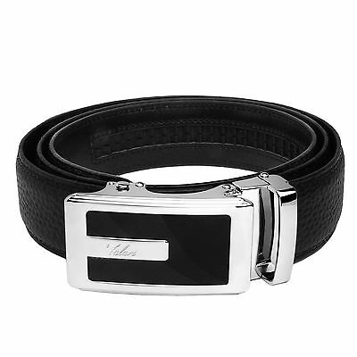 Falari® Men's Genuine Leather Dress Ratchet Belt 35mm Adjustable Size 7013 2