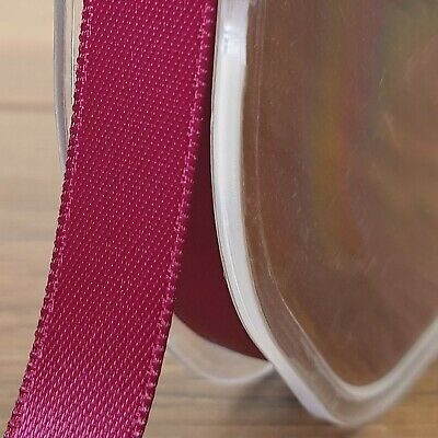 Beautiful Quality Double Sided Satin Ribbon Burgundy 3mm-50mm Wide Plain Per 1M 2