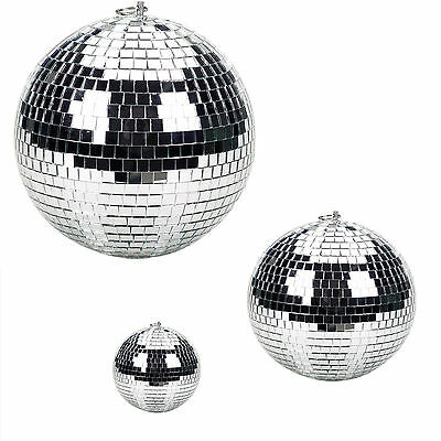 5/10/20/30/40cm Disco Mirror Ball DJ Light Silver Dance Party Stage Lighting Eve 2