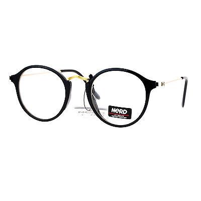 NERD EYEWEAR CLEAR Lens Glasses Vintage Fashion Round Frame ...