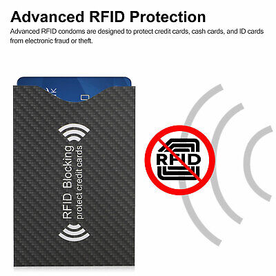 RFID Blocking Sleeve Credit Card Protector Anti Theft Safety Shield Case Cover 3