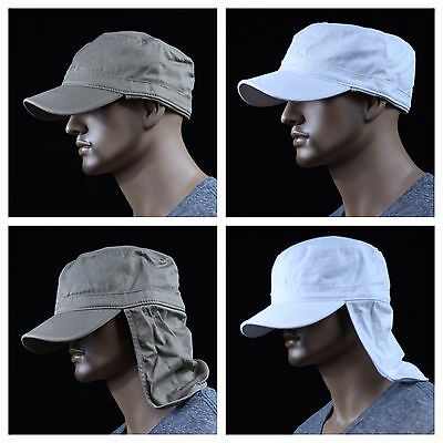... Baseball Cap Hunting Military Army Camo Camping Caps Neck Cover Hat Sun  Visor 4 65327be20d7