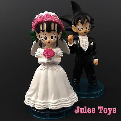 SET OF 2 Custom Dragon Ball Z GOKU and ChiChi Wedding Cake Topper ...