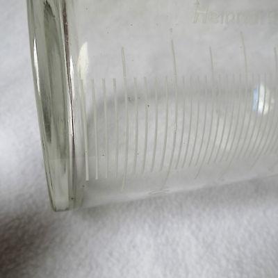 Apothekerflasche Klarglas Schliffstopfen Emaille-Skala Sprit für techn. Zwecke