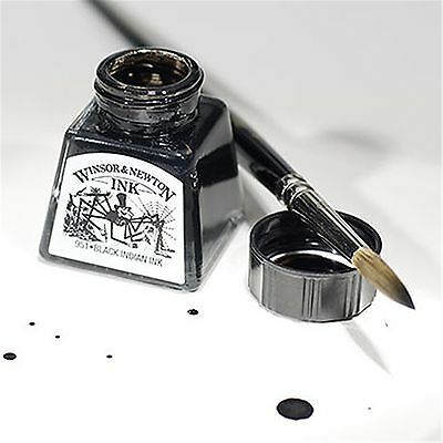 Winsor & Newton Artist Drawing Ink 14ml Brush, Dip Pen, Airbrush - 26 Colours 2