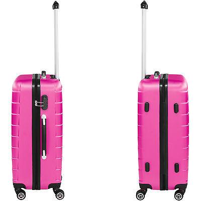 Set 3 piezas maletas ABS juego de maletas de viaje trolley maleta dura rosa 5