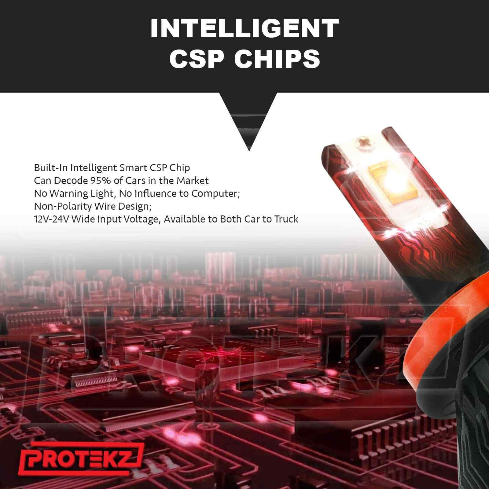 LED Headlight Protekz Kit Hb5 9007 Hi Lo 6000K for 2004-2011 MITSUBISHI ENDEAVOR