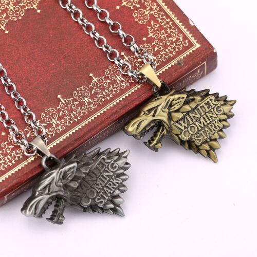 Game of Thrones House Stark Targaryen Dragon Chain Pendant Necklace Jewelry Gift 7