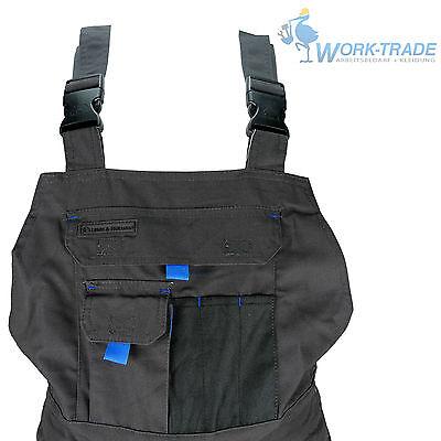 Arbeitshose Latzhose Arbeitskleidung Herren Hose Grau Schwarz Blau Gr. 46-62