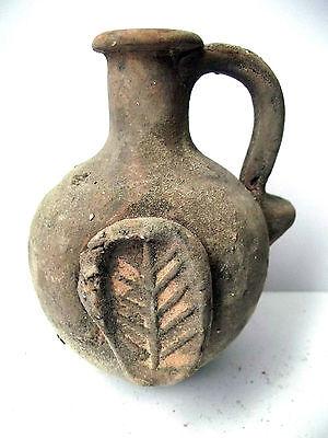 Biblical Ancient coin Antique Jerusalem Jar Holy Land Roman Clay Pottery Jug