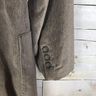 Le Collezioni Structure Brown Velvet 3 Button Suit Jacket Sport Coat Men's Large 3