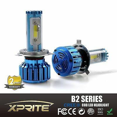 New CSP LED Xprite Knight Star Q4 Series Headlight Conversion Kit 6000k H1