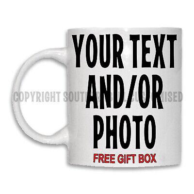 PERSONALISED PHOTO MUG CUSTOM CUP TEXT IMAGE NAME LOGO DESIGN Christmas Birthday 2