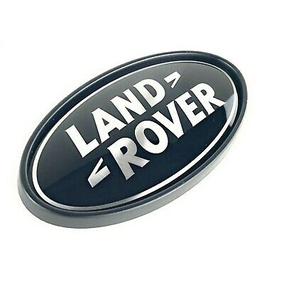 Land Rover Defender 90 110 Rear Body Black Silver Oval Logo Decal Genuine New