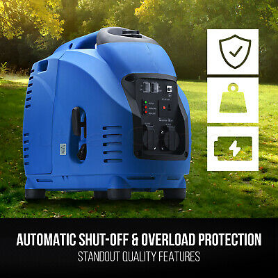 NEW GenTrax Inverter Generator Max 2.5KW Rated 2.2KW Pure Sine Portable Petrol 9