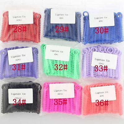 1 Pack 1040 Pcs Dental Orthodontic Elastic Braces Rubber Ligature Ties 37 Colors 5