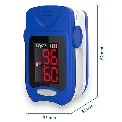 Misuratore Di Ossigeno Professionale Portatile Da Dito Pulsossimetro Saturimetro 3